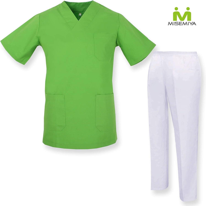 Conjuntos Sanitarios 817-18 Verde Manzana MISEMIYA Casaca Y PANTAL/ÓN Sanitarios Unisex Uniformes Sanitarios M/ÉDICOS XL