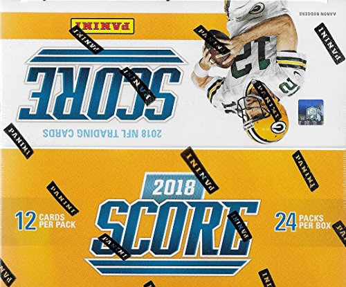 2018 Score NFL Football Unopened Factory Sealed Box of 24 Packs Containing 288 Cards including 72 Rookies and 48 Inserts per box, on average, with Possible Rookie Autographs from Unopened Box of Packs