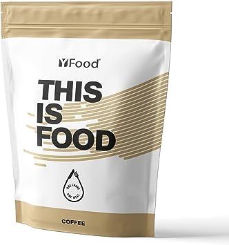 YFood Coffee | Batido en Polvo | Sustituto de comida sin gluten ni lactosa | 17 comidas, 26 vitaminas y minerales | proteína en polvo | batido de ...