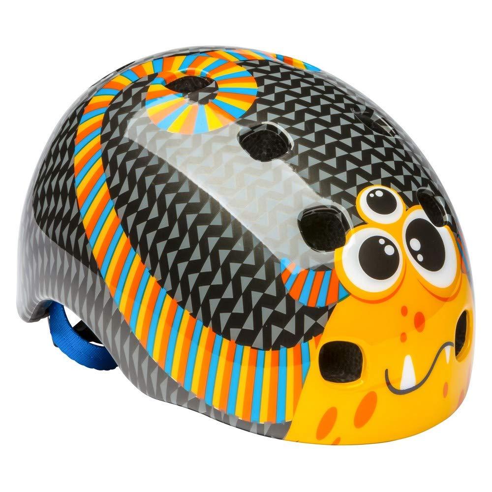 Schwinn Toddler Burst Monster Bike Helmet, Black/Orange