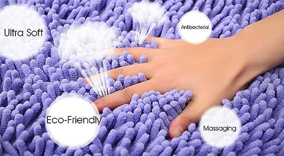 Alfombra de baño semicircular, alfombra de baño absorbente de agua, antideslizante, ideal para sala de estar, cocina, dormitorio, interior, exterior, ...