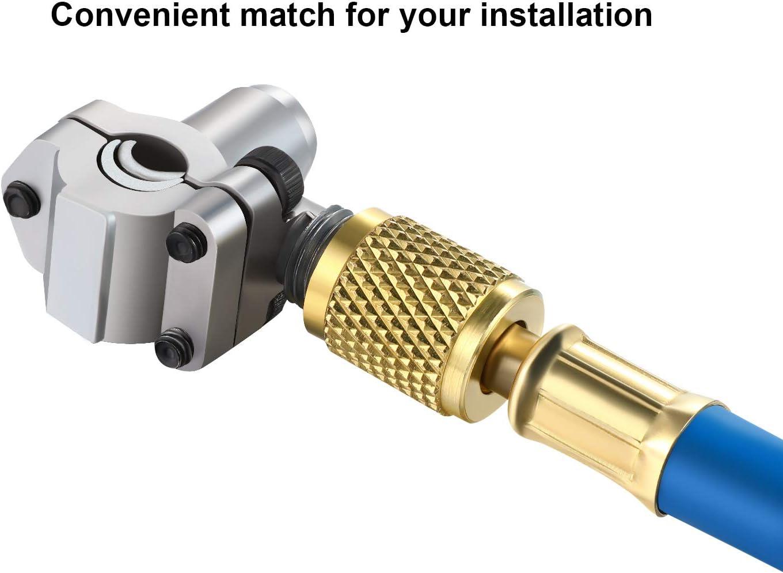 3Pc//Set BPV31 Bullet Piercing Tap Valve U-Charging Hose Refrigerant Can Tank  ︿