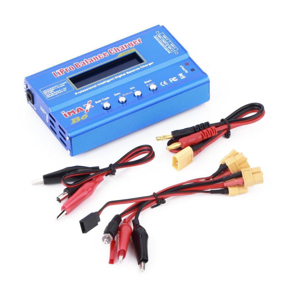 Gugutogo 80W multi-fonctions 1–6cellules XT60batterie LiPo–Original Digital Balance chargeur/Discharger pour véhicules et télécommande Jouets avec 3Câbles 133* 86* 33mm