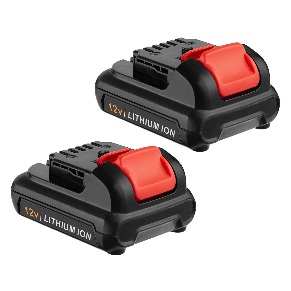 FirstPower Upgraded 4.0Ah 12V Max Lithium-Ion Battery Compatible DeWalt DCB120 DCB127 DCB127-2 DCB121, DCB100 DCB101 DCB119 Dewalt 12 volt Li-ion Battery (2 Packs)