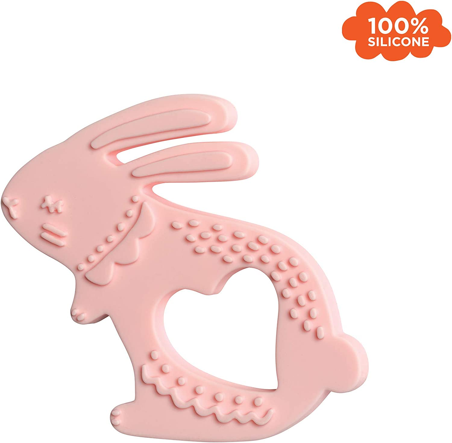 334650 Lapin Anneau de Dentition en Silicone Manhattan Toy Multi