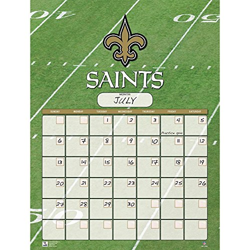 Turner Perfect Timing New Orleans Saints Jumbo Dry Erase Sports Calendar (8921016) - New Orleans Saints Calendar