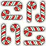 : Candy Canes Dazzle Stickers
