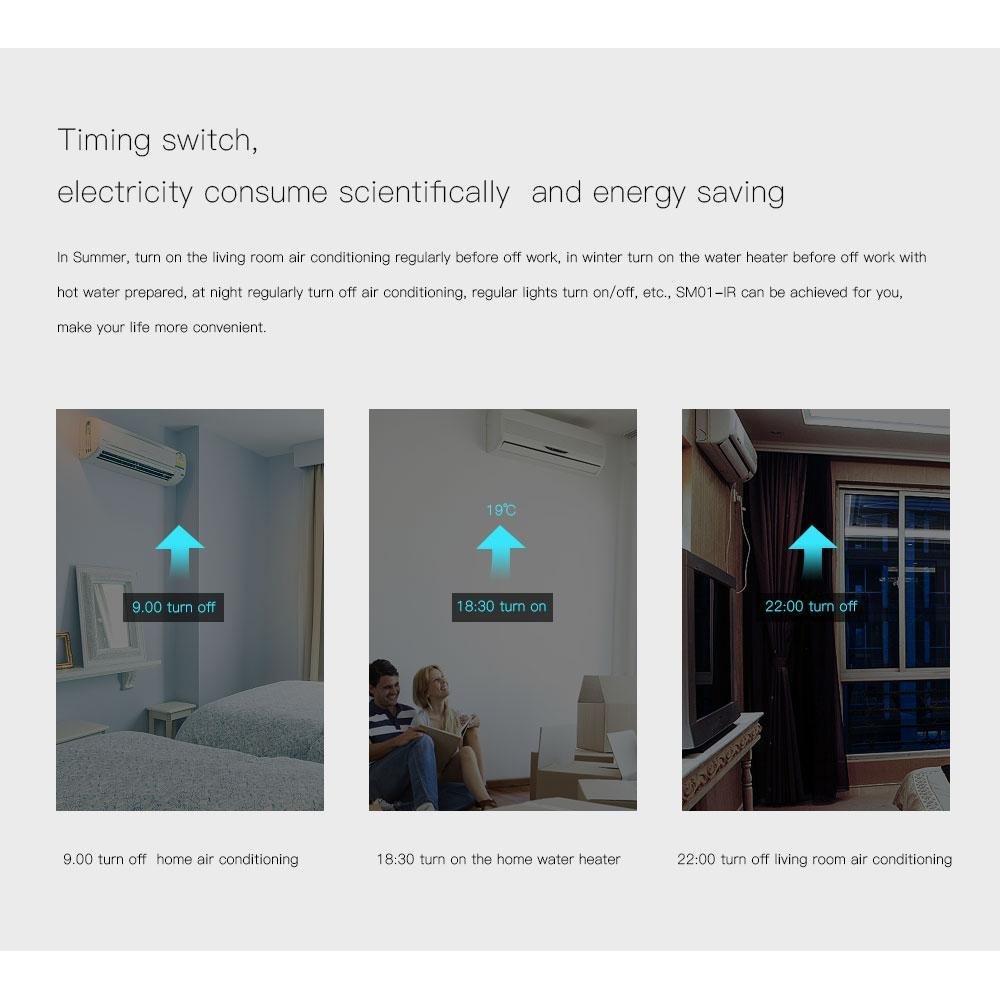 Teepao WiFi Smart Mini Plug IR Control Air Conditioner Works with Alexa and Google Home, Wireless Remote Control Electrical Outlet Switch with Energy Monitoring, Support Voice and Phone App Controlled by Teepao (Image #8)