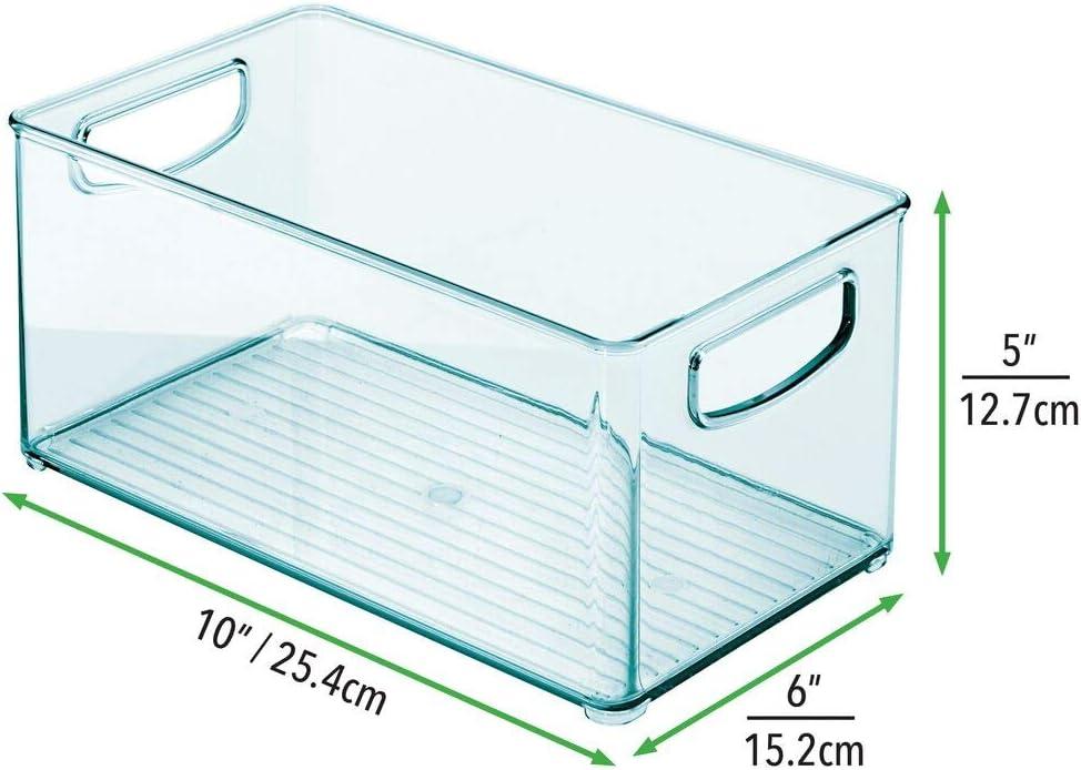 mDesign Kinderzimmer Organizer Sortierbox mit praktischen Griffen hellblau Windeln Stofftiere /& Co ohne Deckel BPA-freier Kunststoffbeh/älter mit gro/ßem Fach f/ür Spielzeug