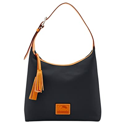29ff43e3b Amazon.com: Dooney & Bourke Paige Sac Leather Hobo (Black): Shoes