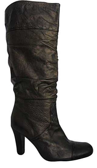03d41a86880 Ex-NEXT Antique Gold Real Leather Knee High Boots Size 41 (UK 7 ...