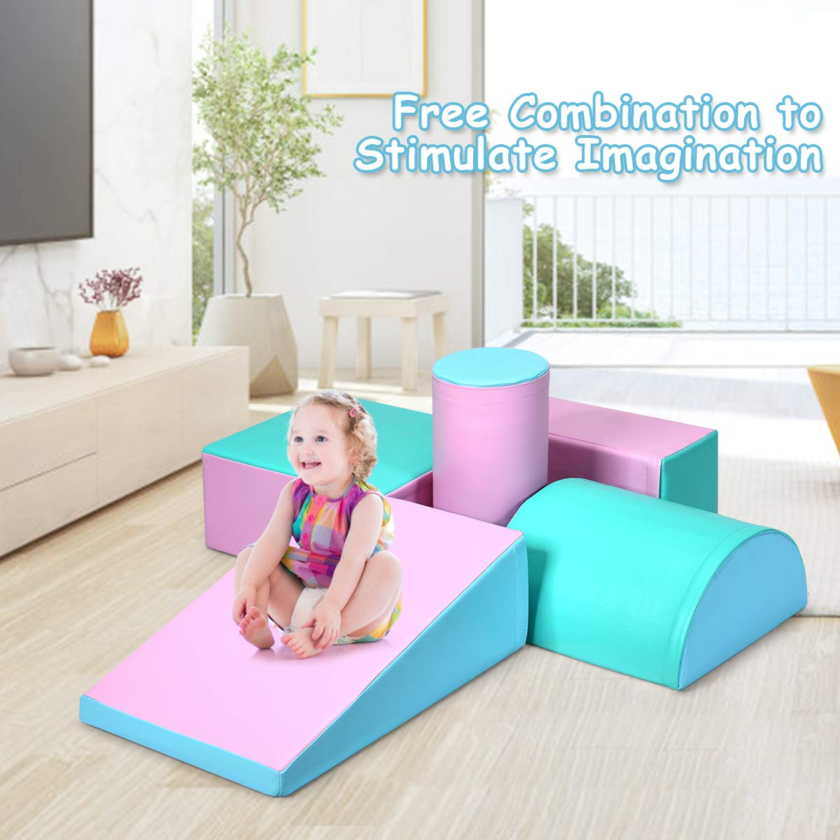 Amazon.com: Costzon Climb and Crawl Foam Set, 5-Piece Soft ...