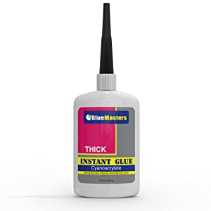"Professional Grade Cyanoacrylate (CA)""Super Glue"" by Glue Masters - 56 Grams - Thick Viscosity Adhesive for Plastic, Wood & DIY Crafts"