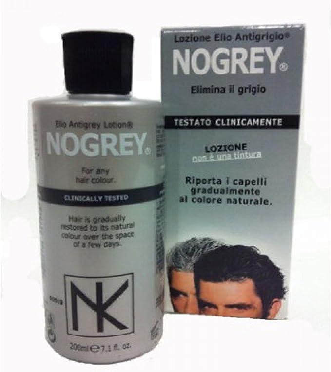 Nicky Chini® - Elio NoGrey - Loción para eliminar el pelo gris, 200 ml, elimina las canas