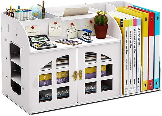 Estante De Exhibición De Madera del Organizador del Almacenamiento del Escritorio, Diseño De La Caja De Pañuelos del Organizador del Escritorio De Los Suministros De Oficina: Amazon.es: Hogar