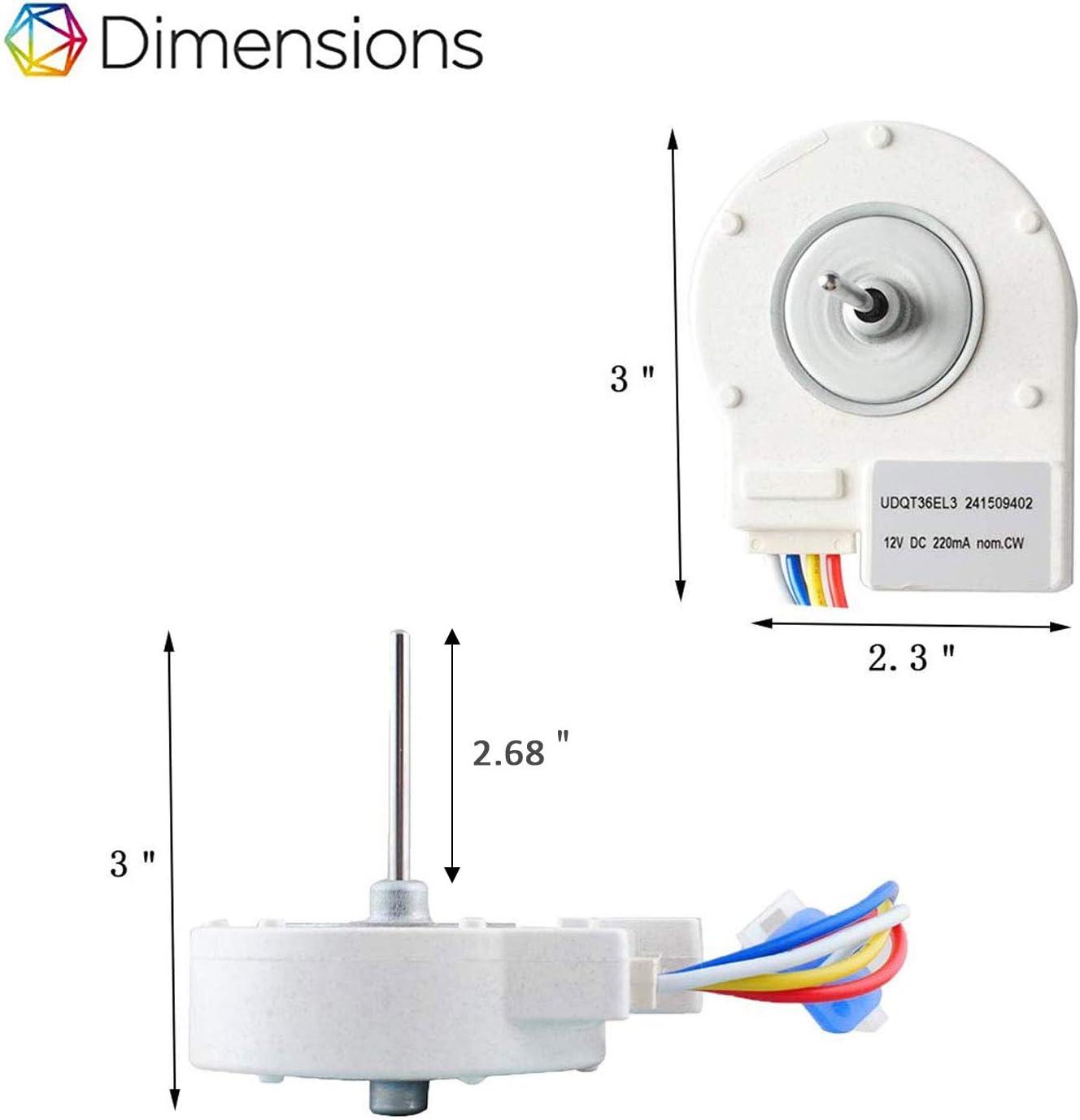 wiring diagram for an evaporator fan motor amazon com 241509402 evaporator fan motor compatible with  241509402 evaporator fan motor