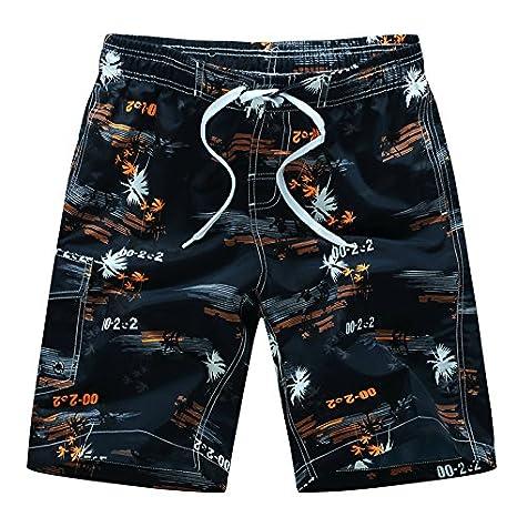 Yuson Girl Pantaloncini da Bagno Uomo,Costume da Bagno Uomo Boxer con Tie Anteriori Pantaloni Regolabile Costumi da Bagno Traspirante