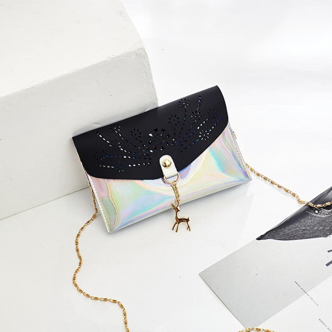 Lavany Women Handbags,PU Mini Crossbody Bags Hollow Out Shoulder Bags Deer Decor