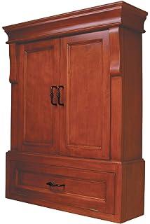 Pegasus NAC02633 Naples Wall Cabinet, Warm Cinnamon