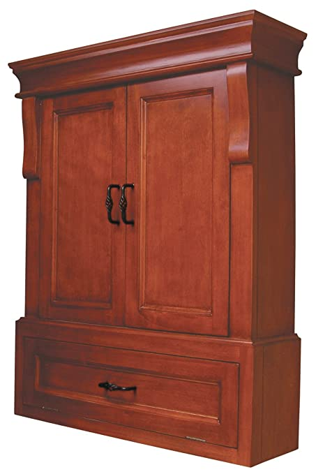 Charmant Pegasus NAC02633 Naples Wall Cabinet, Warm Cinnamon