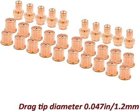 23pcs Plasma Extended Electrode Tips Kits for CB50 Eastwood Versa Cut 40A