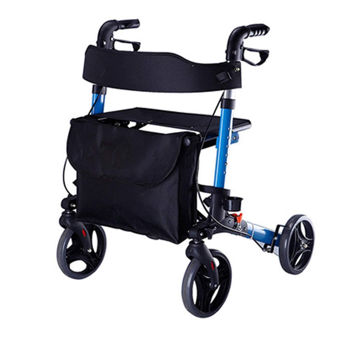 100%の保証 高齢者ウォーカー、ポータブルキャスターシート補助ウォーカー、軽量障害クワッドバイクショッピングカートウォーカー   B07L94V1VQ, マイスタイルゴルフ:48251421 --- a0267596.xsph.ru