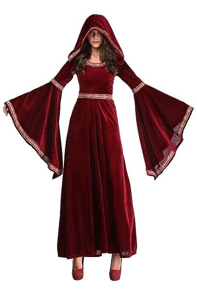 Mujeres Medieval Renacimiento Traje Vintage Vampiro Vino ...