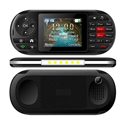Handheld Game Console, 2 in 1 Portable Video Game Console and Mobile Phone with Built in 400 Classic Games, 2.8-Inch Color Screen, Support for Dual SIM Cards for Kids, Adults