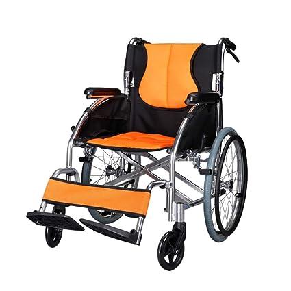 QIDI Silla De Ruedas Conducir De Lujo Ligero Aluminio 11kg Plegable