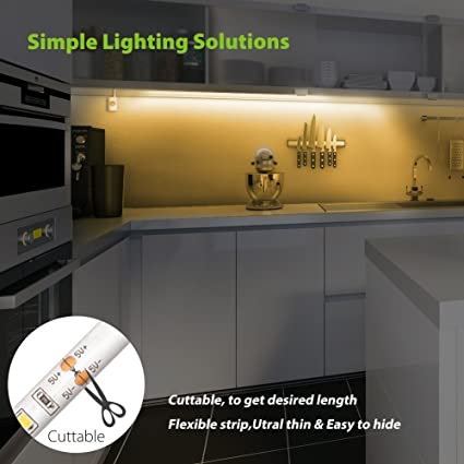 Amazon.com: Under Cabinet Lighting, Motion Activated LED Strip ...