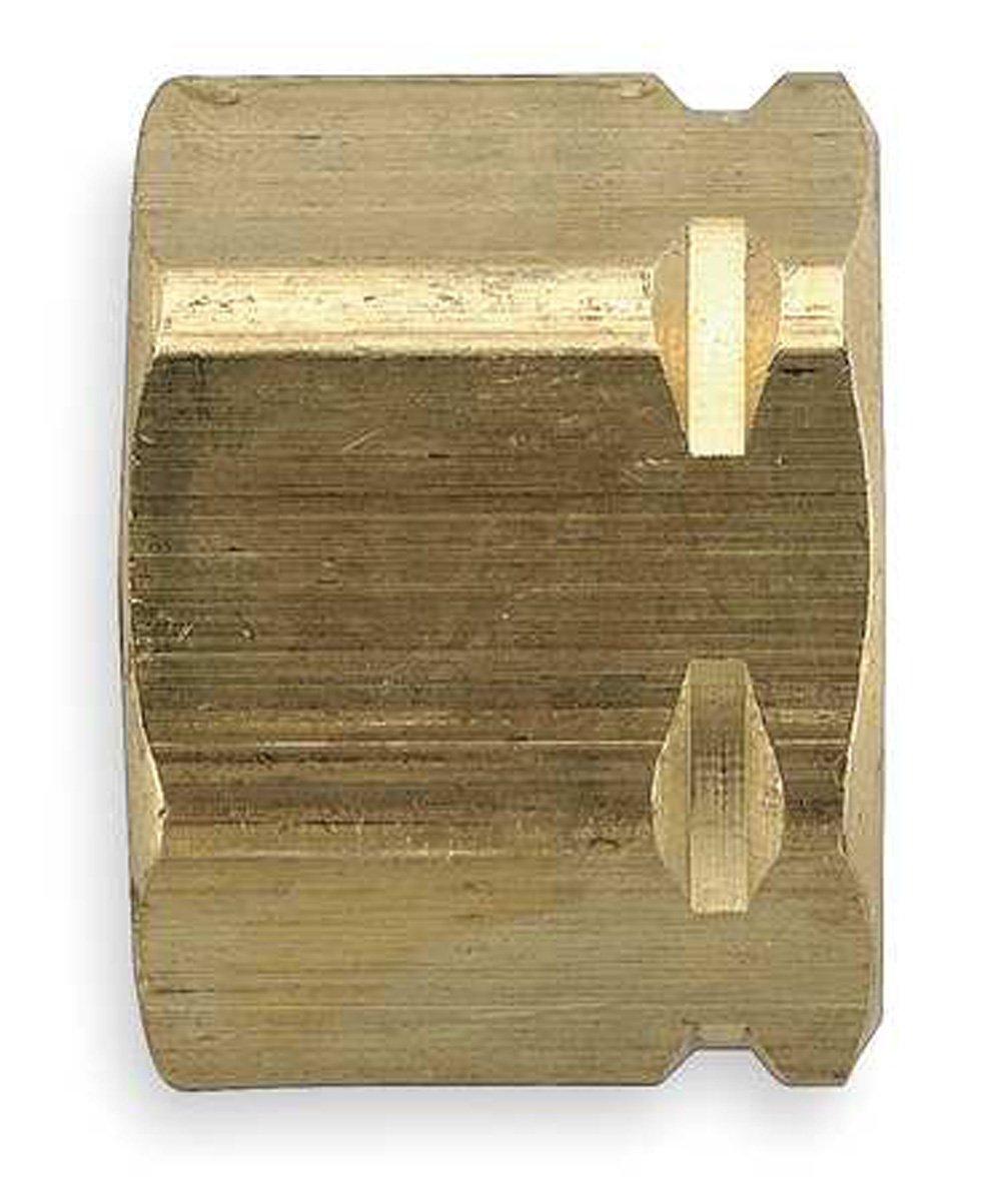 Parker Hannifin 61CA-4 Brass Nut//Sleeve Compress-Align Fitting 1//4 Compression Tube x 1//4 Compression Tube
