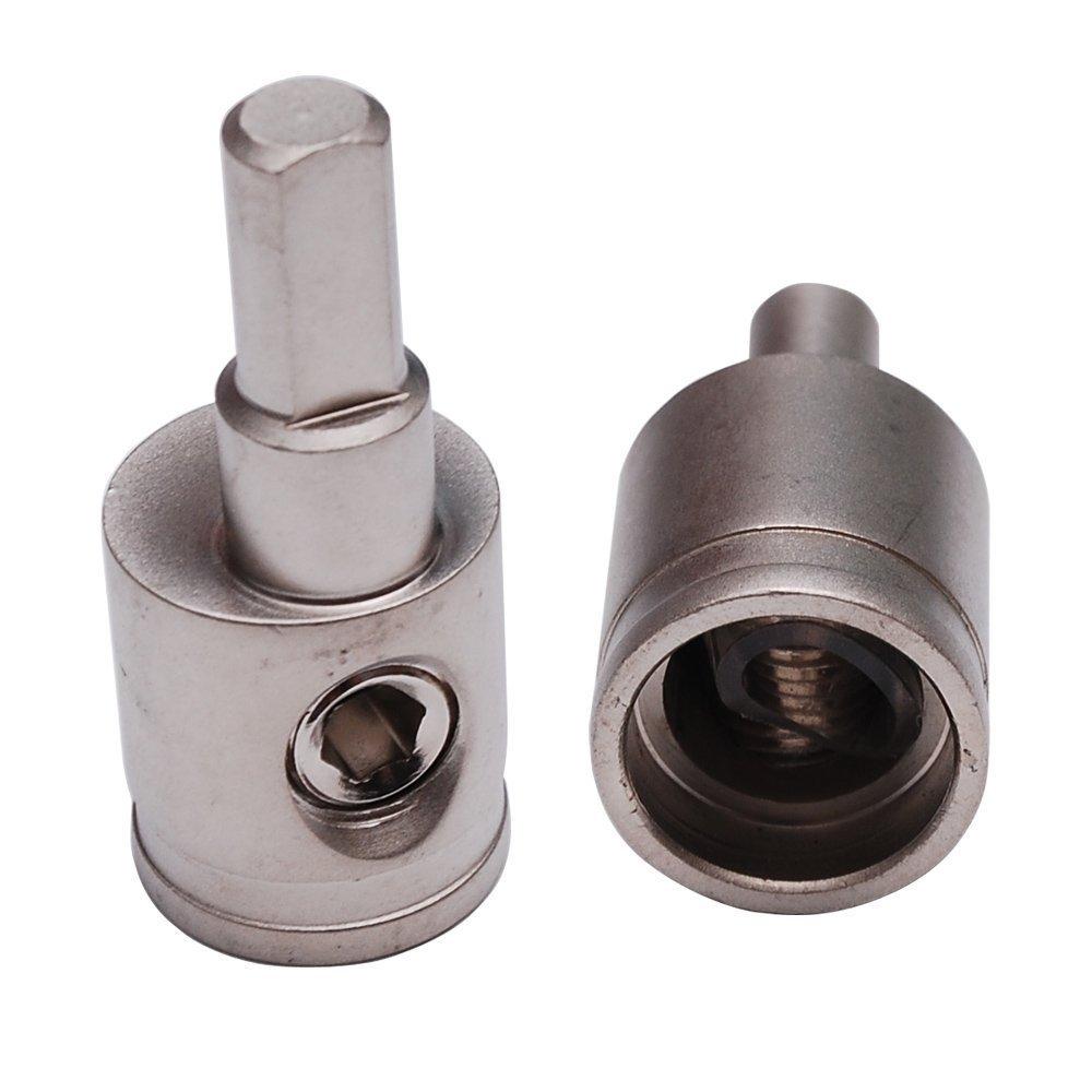 Pair of Car Audio 1//0 Gauge to 4 Gauge Amp Input Reducers 12Volt Distributors