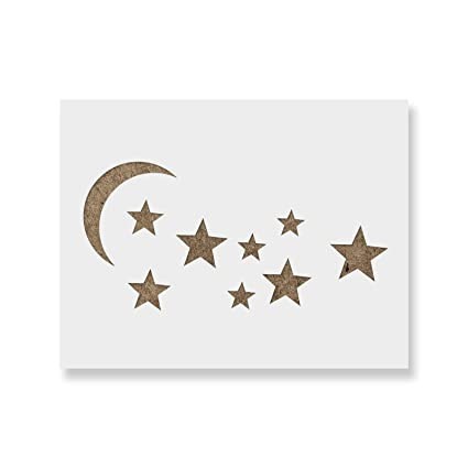 amazon com moon and stars stencil template reusable stencil with