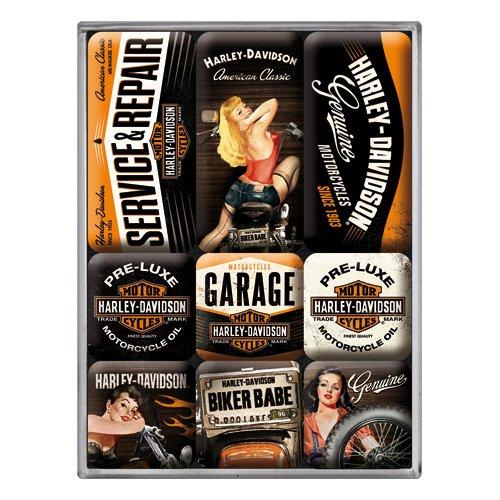 Harley Davidson set of 9 magnets