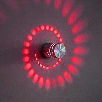 Modern Simple LED Wall Light Spiral Lamp Indoor Hallway KTV Bar Decor Hot 3W