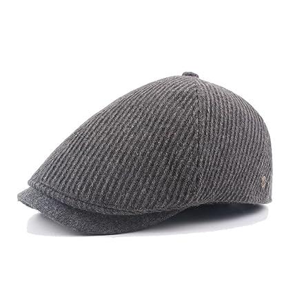 ce351b90 Hemlock Berets Hats Men, Vintage Painter's Hats Unisex Cotton Hat Director  Berets Hat Cap (Grey)