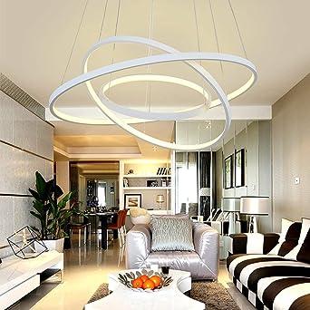 Schon LED Pendelleuchte Modern 3 Ringe Entwurf Runden Hängelampe Kronleuchter Zum  Wohnzimmer Esszimmer Schlafzimmer Studierzimmer Decke Beleuchtung