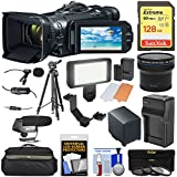 Canon Vixia GX10 Wi-Fi 4K Ultra HD Digital Video Camcorder with 128GB Card + Battery + Case + LED + Microphones + Filters + Tripod + Fisheye Lens Kit