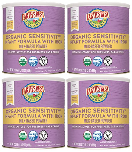 Earth's Best Organic Low Lactose Sensitivity Infant Powder Formula with Iron, Omega-3 DHA and Omega-6 ARA, 23.2 oz. (Pack of 4) by Earth's Best (Image #6)