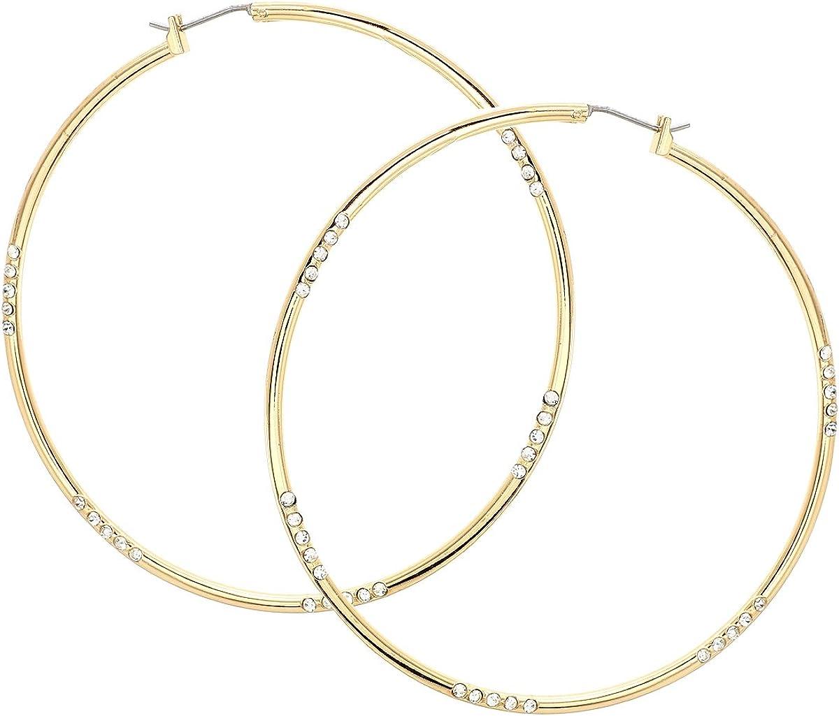 Crystal Aquamarine Blue Gold Tone Octagon Clip On Earrings Big Jewel USA Made Earrings For Women Set