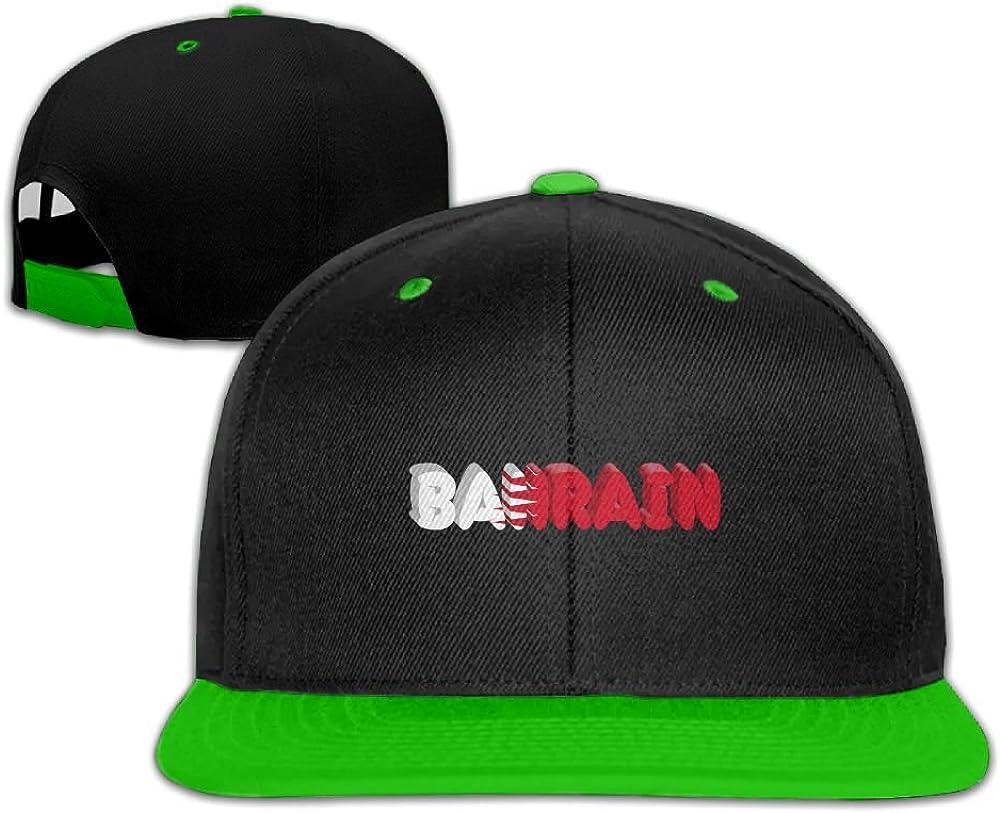 Humaoe Bahrain Country Flag Fashion Peaked Baseball Caps//Hats Hip Hop Cap Hat Adjustable Snapback Hats Caps for Unisex