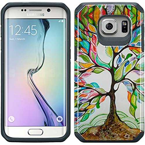 Samsung Galaxy S7 Edge Case - Wydan Fusion High Impact Hybrid Hard Gel Shockproof Case Cover - Artsy Tree Sales