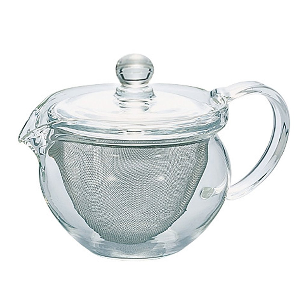 Hario CHJMN-30T 300 ml 1-Piece Glass Chacha Kyusu Maru Tea Pot