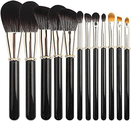 BIGBOBA 12Pcs Pinceles de maquillaje Set-Brochas maquillaje Facial Profesional de Mango de Madera de Multifunción Sets de brochas para Facial Fundación Eyebrow Eyeliner Blush: Amazon.es: Belleza