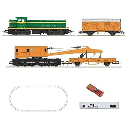 Circuito Tren iniciacion Digital, con Locomotora Diesel D307. Geoline.