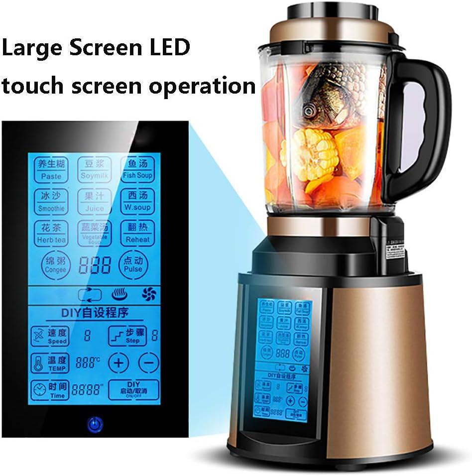 Robot de Cocina Multifunción, Picadora Electrica de Alimentos de Control Táctil de Pantalla LED, Smoothie Maker con Motor de Cobre puro 2200W, 48000r / min, 2L,Gold: Amazon.es: Hogar
