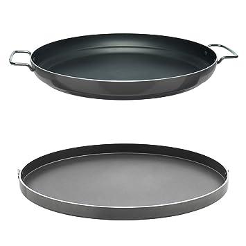 Cadac Paella Pan 47 Cm.Cadac Chef Pan 47cm Paella Pan Combo Amazon Co Uk Garden Outdoors