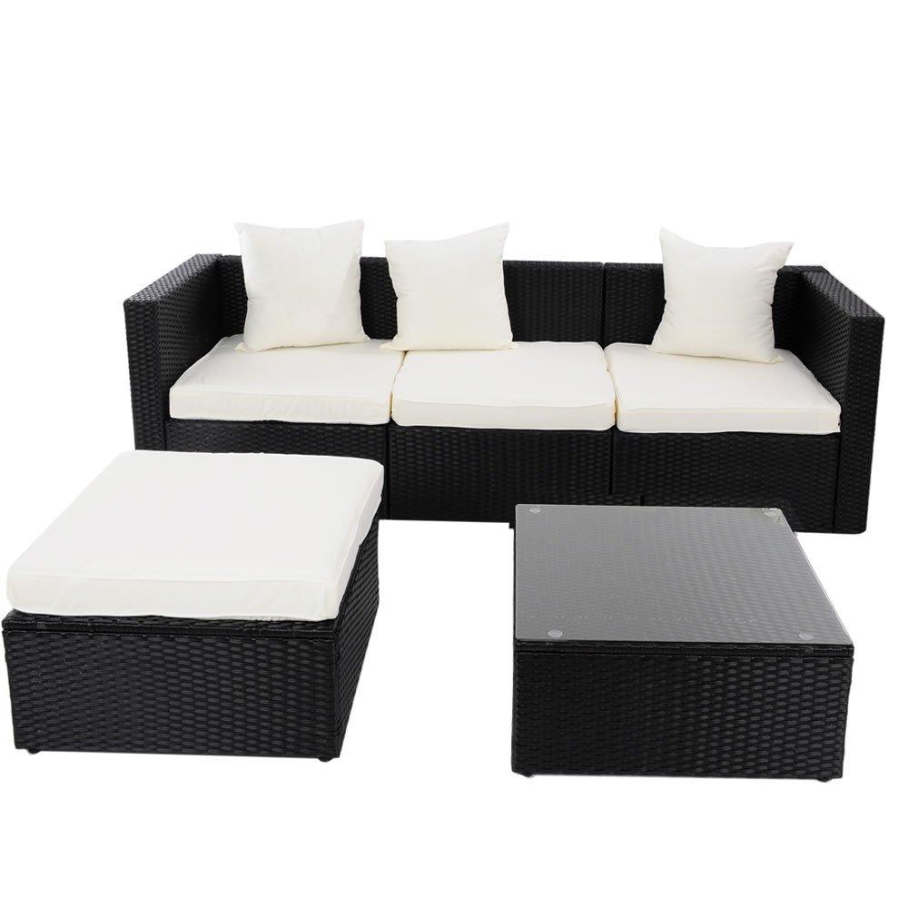 Amazon.de: Gartenmöbel Lounge Sofa Rattanmöbel Polyrattan Gartensofa ...