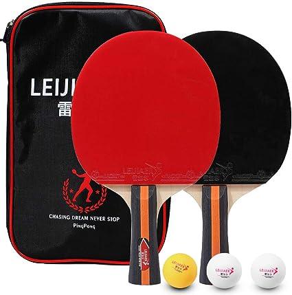 Lixada Tenis de Mesa Juego de 2 Jugadores 2 Raquetas de Palos de Tenis de Mesa y 3 Pelotas de Ping Pong con Funda (Modelo 3—con Maleta): Amazon.es: Deportes y aire libre