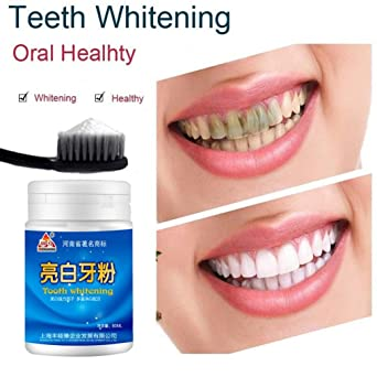 Polvo de limpieza Blanca Brillante sisit 80 g la magie dientes naturales Blanqueamiento perla en polvo